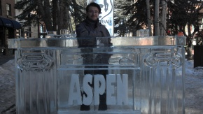 Point Scholar Ethan Hansen at Aspen Gay Ski Week