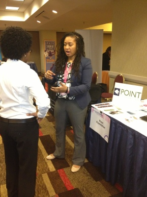 Monica Motley Tabling at Creating Change Conference