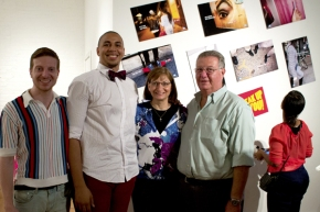 Derrick Miller Handley at inProgress campaign launch with Clementi Foundation