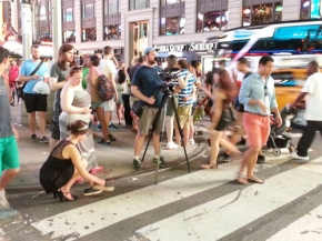 Filming BLONDE trailer in New York City