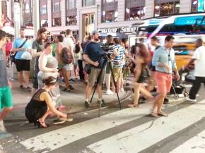Filming BLONDE trailer in New York City