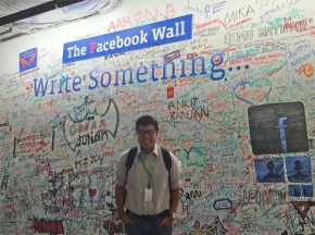 Point Scholar Valentin Sierra at Out for Undergrad Technology Conference