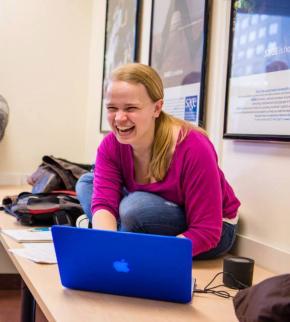 Maggie Keenan-Bolger Working on Laptop