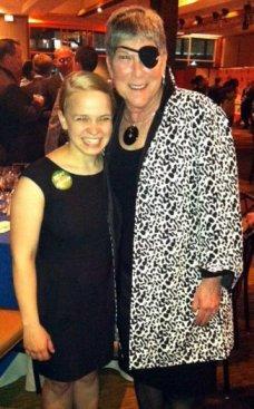 Maggie and her mentor Judi Bennis